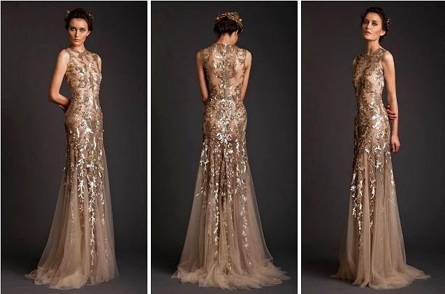 Buy sequin appliqued hollow evening dresses 2015 new arrival floor