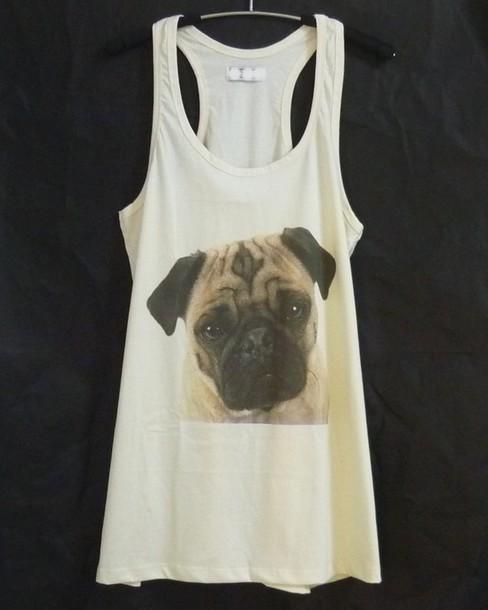top pug shirt pug tank top dog tank top cute tank top racerback tank tops summer outfits