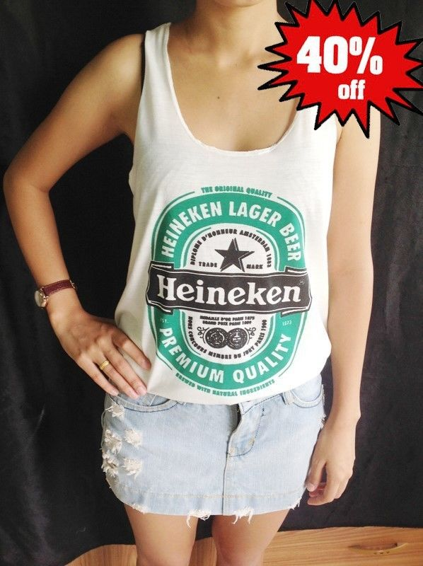 Womens Comfortable Heineken T Shirt Free Size s M L Tops Blouses Tank Clothing | eBay