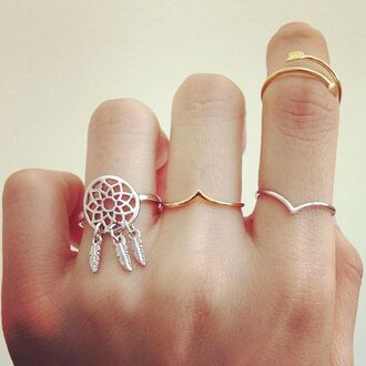 jewels ring gold jewelry gold ring dreamcatcher arrow knuckle ring rings and tings boho bohemian boho jewelry