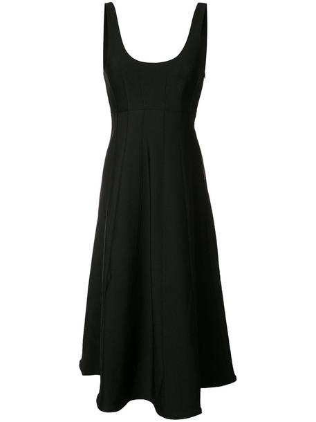 Tibi dress sleeveless dress sleeveless women spandex black