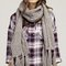 Chunky scarf with pockets - grey