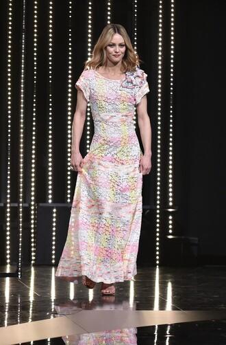 dress lace dress maxi dress vanessa paradis