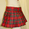 Royal stewart skirt~mini pleated skirt~red green skirt tie plaid set~custom make plus size skirts~cosplay skirts halloween @sohoskirts