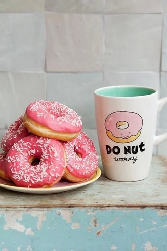 home accessory donut mug quote on it