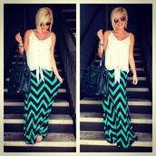 skirt,chevron,chevron skirt,maxi skirt,fold over,zigzag,striped skirt,colorful,long maxi skirt,summer outfits,summer skirt,celebrity style,trendy