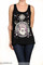 "Boho ""live by the sun"" sun moon hand print tank top – glamzelle"