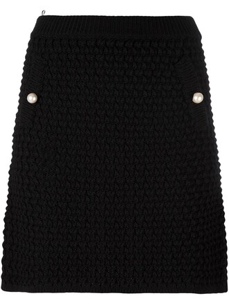 skirt mini skirt mini knit black