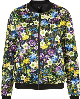 Zara sells out of floral bomber jacket after Mary Berry wears it on Great British Bake Off | Mail Online