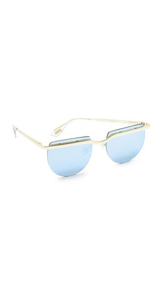 sunglasses gold blue