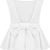 White Sleeveless Backless Bow Ruffle Top - Sheinside.com