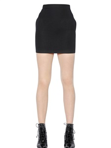 LUISAVIAROMA.COM - SAINT LAURENT - WOOL CREPE SKIRT