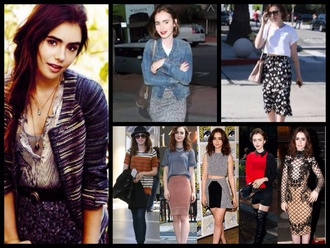 dress lily collins actress model