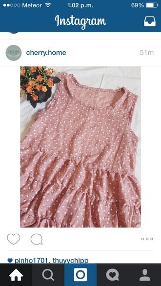 dress pink dress sundress country dress