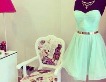 Sweet Mint Green Knee Length Chiffo..