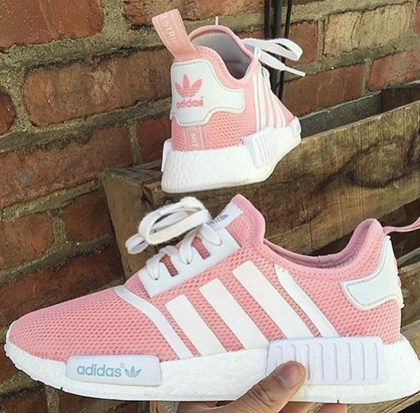 best loved 2dbac bc019 shoes pink adidas nmd adidas adidas shoes white sneakers instagram