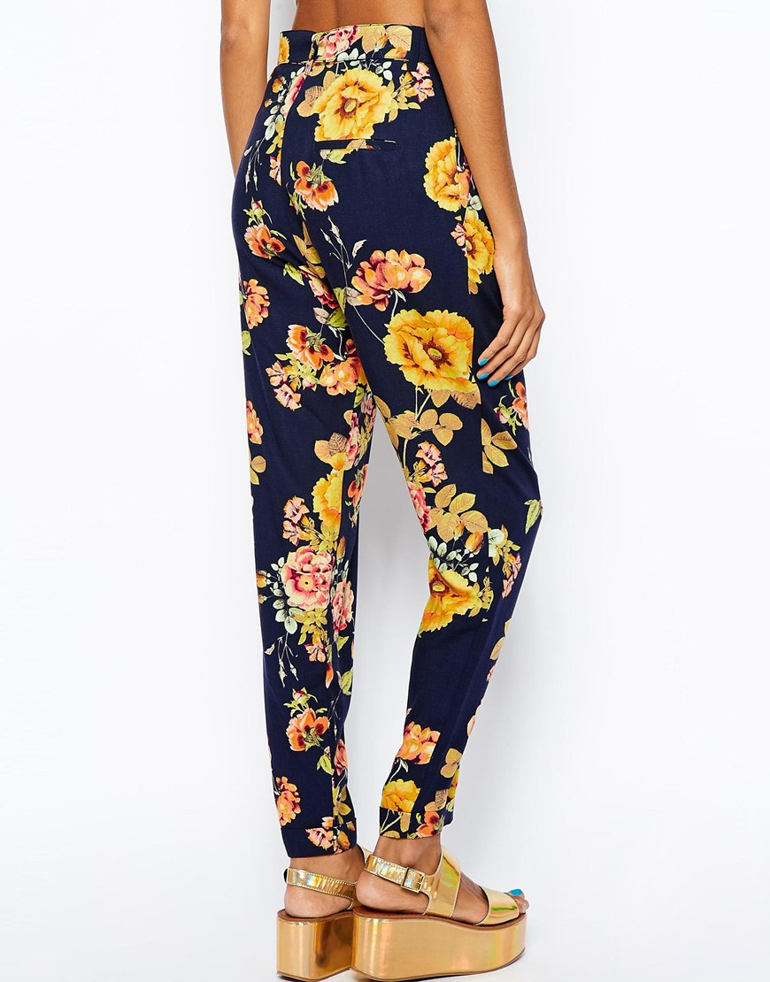 River island floral belted trouser at asos.com