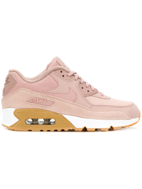 Nike - Air Max 90 SE sneakers - women - rubber/Leather/Polyester/Suede - 8.5, Pink/Purple, rubber/Leather/Polyester/Suede