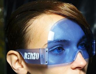 sunglasses kenzo blue space fashion golf healthgoth ebae web goth cyber fun transparent face marble