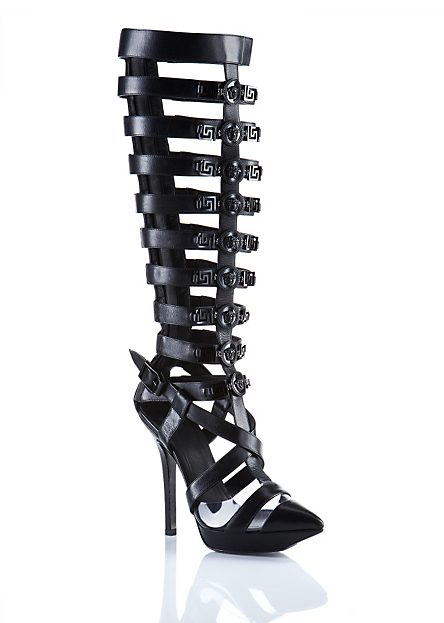 VERSACE   Knee-High Gladiator Open-Sandals   Shoes   Women   Shop at