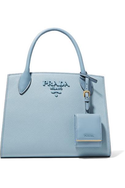 Prada light leather blue light blue bag