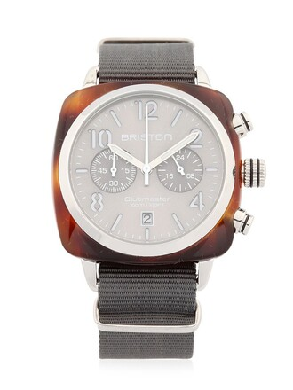 classic watch grey jewels