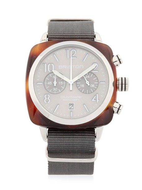 BRISTON classic watch grey jewels
