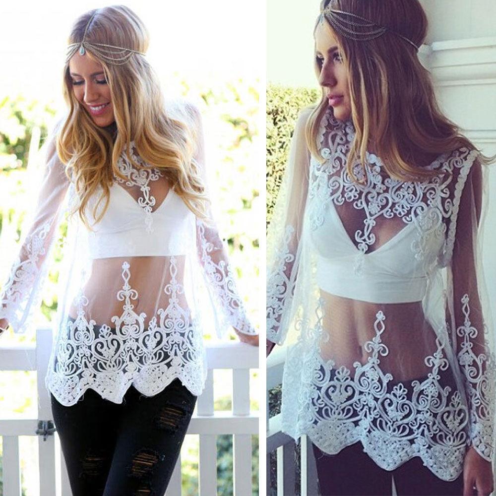 Sexy lace blouse