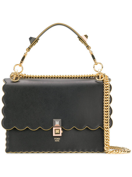 Fendi women bag shoulder bag leather black
