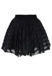 skirt,stripes,mini,organza,black
