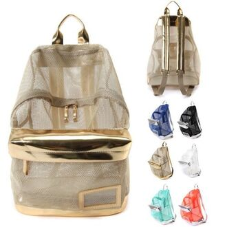 bag backpack gold summer accessories accessory bolso