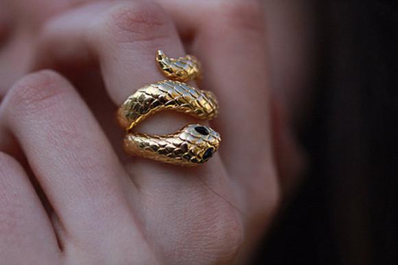 jewels snake ring animal