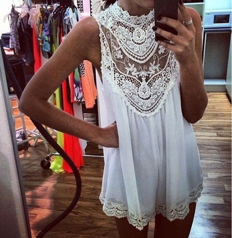 Sexy Women Celeb Lace Chiffon Party Evening Summer Casual Short Beach Dress | eBay