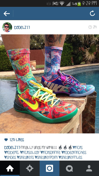 shoes colorful nikes kobe's