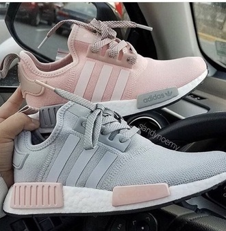 shoes adidas adidas shoes adidas boots workout shoes trainers adidastrainers pinkadidas grey grey adidas pink