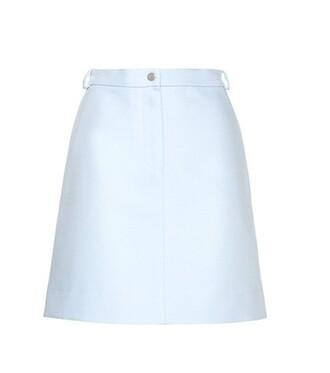 miniskirt cotton blue skirt