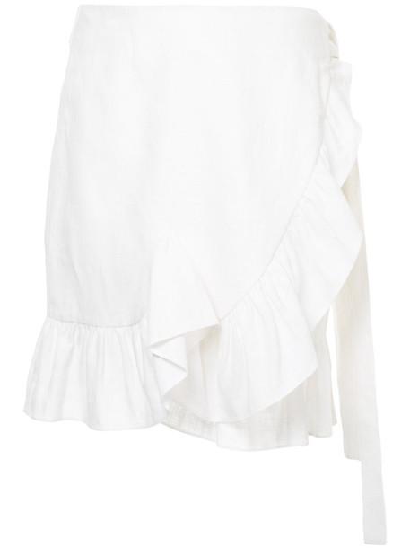 GOEN.J skirt wrap skirt ruffle women white