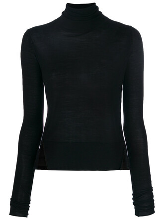 jumper women slit sweater