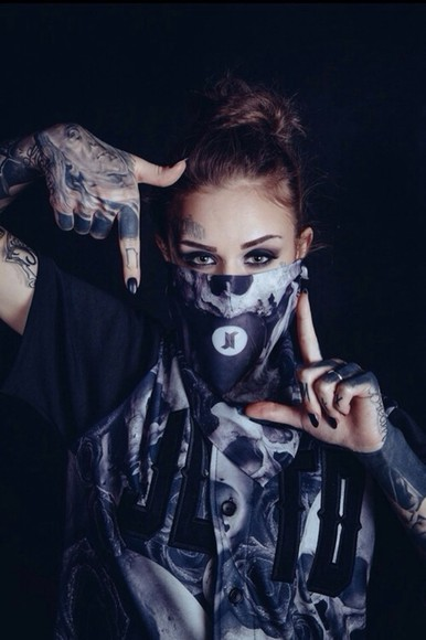 skull shirt fashion black clothes white tumblr instagram cute tshirt dope swag tattoos model scarf