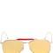 Gold mirrored aviator sunglasses