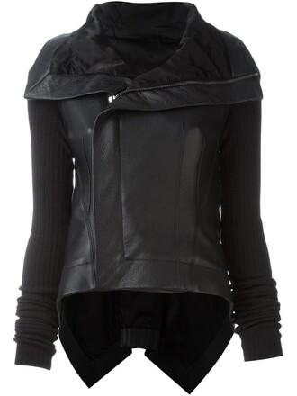 jacket biker jacket high high low black
