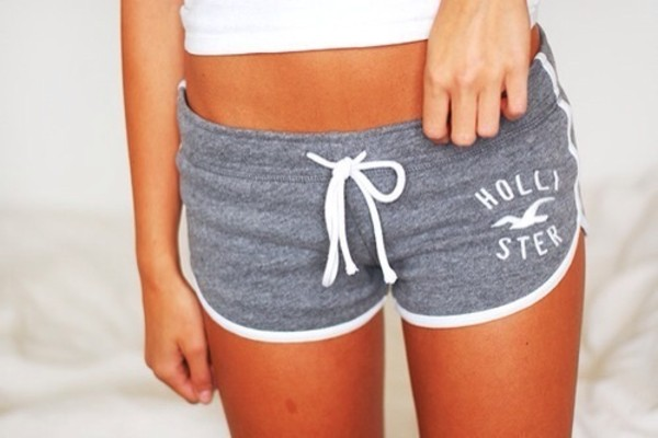 shorts hollister grey sweatpants pants panties grey gray shorts hollister sportswear inspiration short pajamas pajamas fashion