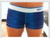 shorts,nike pro shorts,sparkle,dark blue