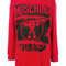 Moschino - branded jersey dress - women - cotton/water - s, red, cotton/water