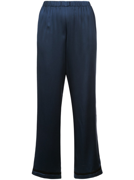 MORGAN LANE women blue silk pants
