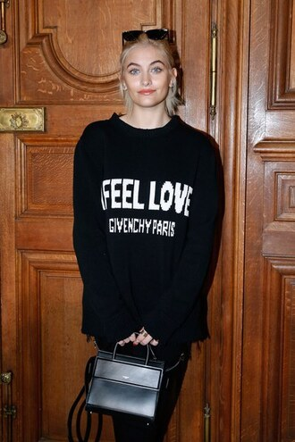 sweater fashion week 2017 paris jackson purse love quotes givenchy black jumper black sweater fashion week