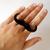 Black Ring - Mustache Ring - Black | UsTrendy