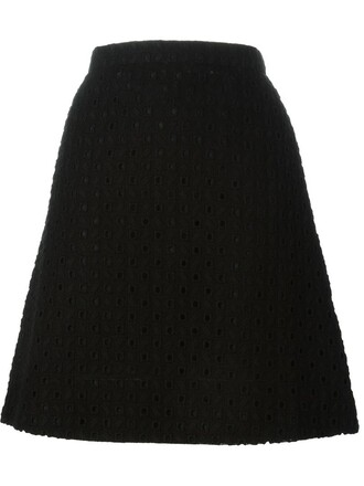 skirt embroidered black