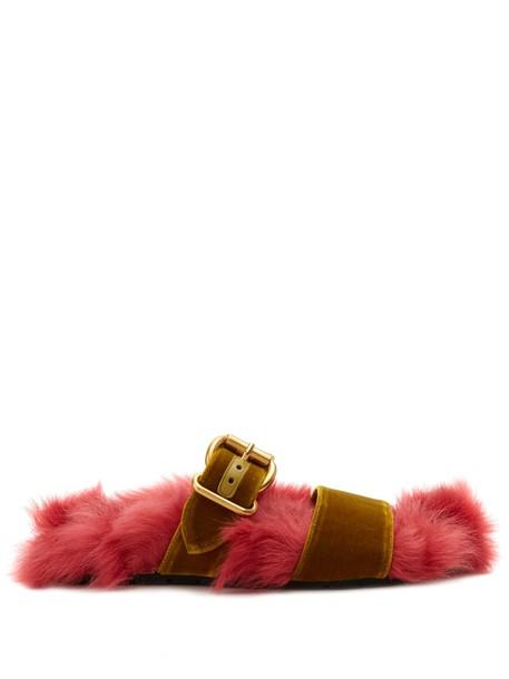 Prada velvet pink shoes