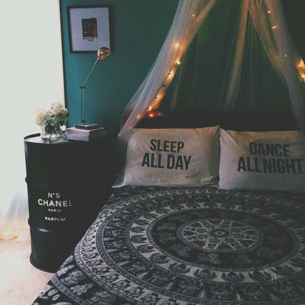 Home Accessory Hanna Design Bedding Black And White Decor Hipster Mandala Tumblr Bedroom